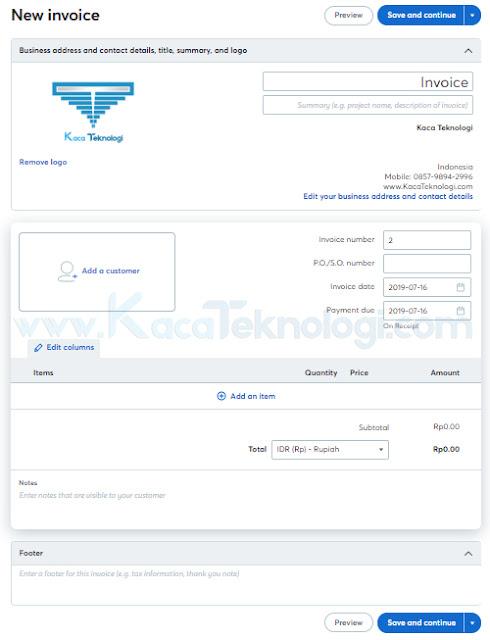 Apa itu invoice, jenis-jenis, contoh dan bagaimana cara membuat invoice mudah yang baik dan benar. Invoice atau biasa disebut faktur / tagihan merupakan surat yang biasanya diberikan oleh pihak penjual kepada pembeli dan di dalamnya terdapat keterangan-keterangan perihal tagihannya yang sesuai dengan kesepakatan diantara keduanya (penjual dan pembeli).