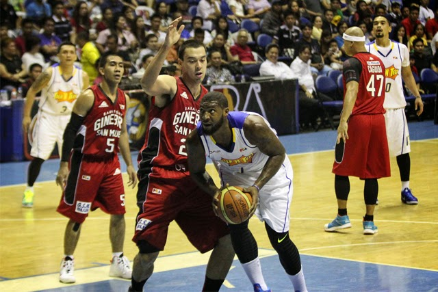 Image: Richard Howell vs. Greg Slaughter - PBA Commissioner's Cup 2014