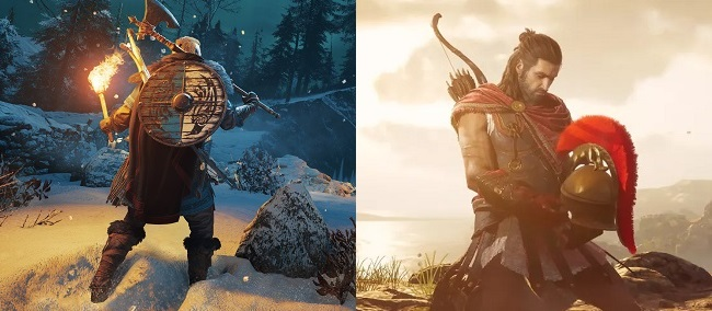 Differences in Assassin's Creed Valhalla vs Odyssey