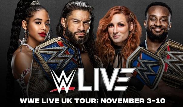 WWE проведут большой тур по Великобритании в ноябре 2021 года