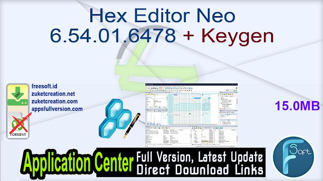 Hex Editor Neo 6.54.01.6478 + Keygen