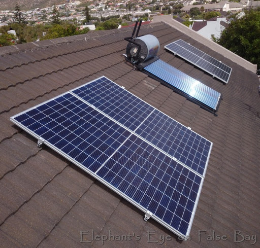 Second set of photovoltaic panels in March