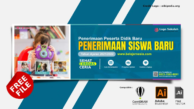 Free Spanduk : Download Banner Penerimaan Siswa Baru PAUD Gratis