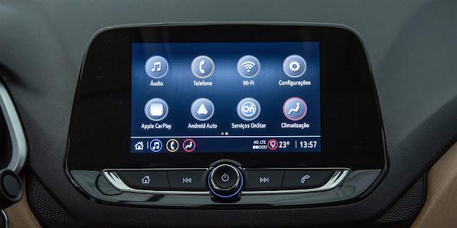 Novo Chevrolet Onix 2020 tem wi-fi e internet 4G