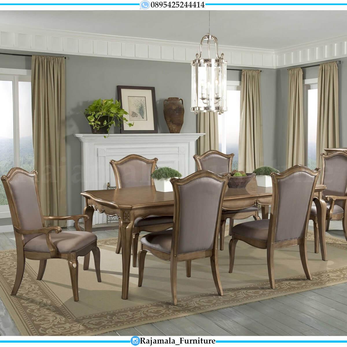 Desain Meja Makan Minimalis Jati Classic Natural Luxury Palace RM-0592
