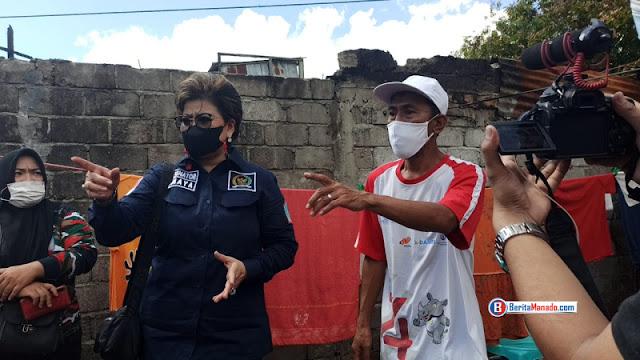 Senator Maya Rumantir Bantu Korban Kebakaran di Dendengan Luar