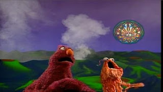 Telly sings My Outer Space Friend with a martian. Sesame Street Bedtime with Elmo