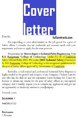 an example of a cover letter