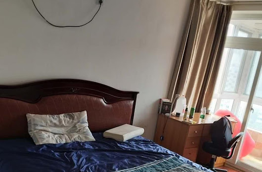 main bedroom with balcony wudaokou Tsinghua Peking BLCU