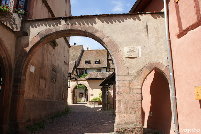 I cortili interni famosi a Riquewihr