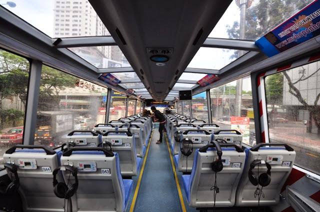 Inside Hop-On Hop-Off bus