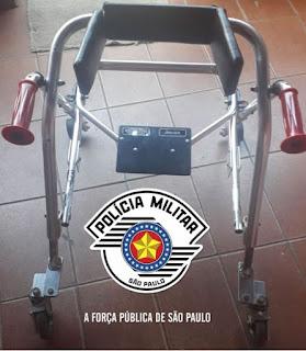 POLÍCIA MILITAR PARTICIPA DE AÇÃO PARA COMPRA DE ANDADOR PARA MIGUEL DE 6 ANOS  EM PARCERIA ESCOLA MUNICIPAL EM JUQUIÁ