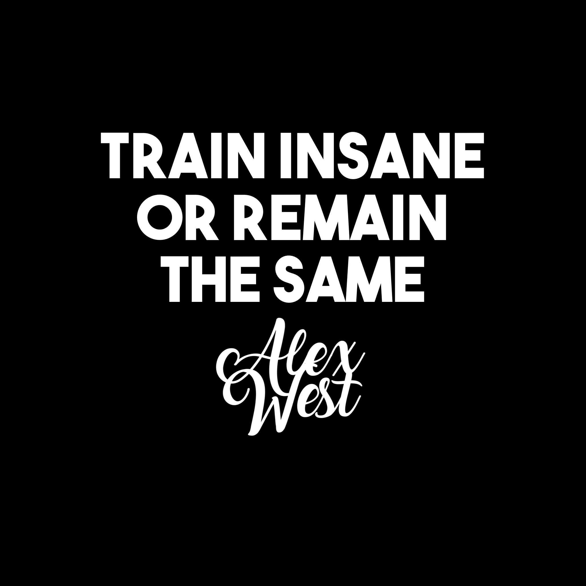 TRAIN INSANE OR REMAIN THE SAME motivation quotes success inspiration gym fitness nike clothes fashion luxury success