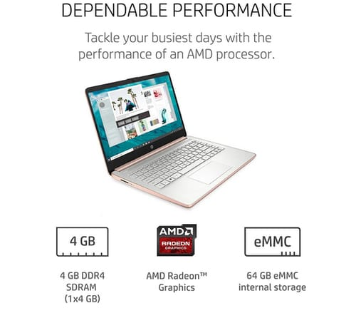 HP 14-fq0060nr 14-inch HD Touchscreen Laptop