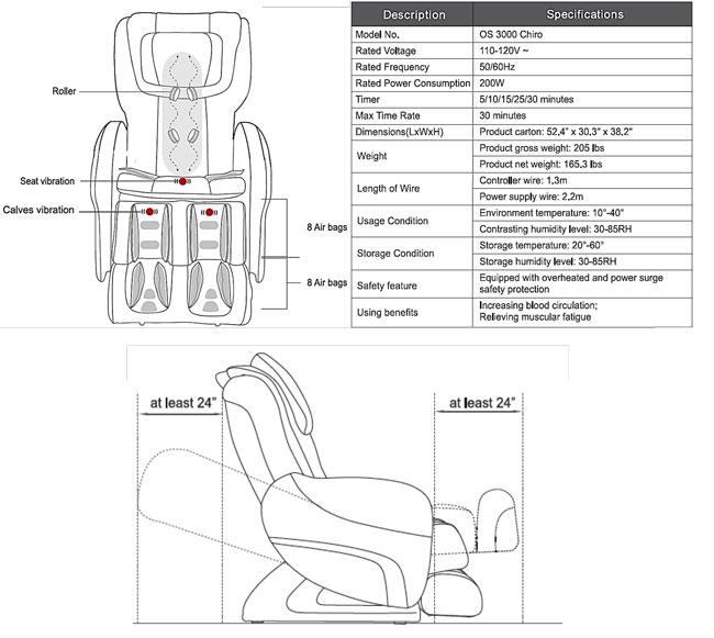 Bed Planet : Osaki OS-3000 CHIRO Massage Chair