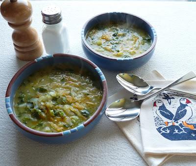 Kohlrabi Vegetable Soup