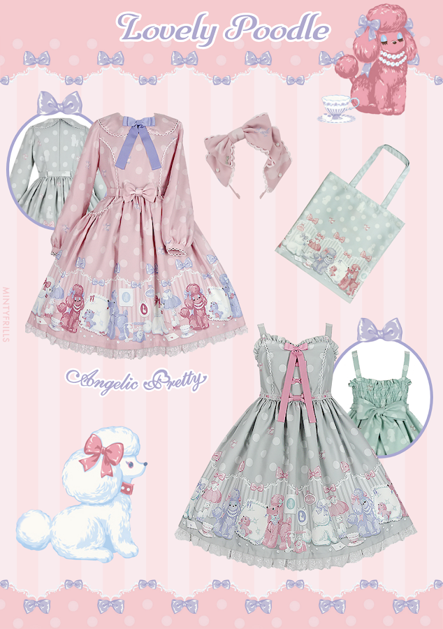 Angelic Pretty Lovely Poodle Print Series