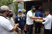 Bank Aceh Syariah Cabang Jantho Sumbang Bahan Makanan Untuk Korban Badai
