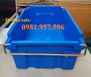 hùng nhựa có quai sắt, sóng nhựa bít có quai sắt, sóng nhựa bít A2, thùng nhựa đặc A2, sóng nhựa bít, thùng nhựa đặc