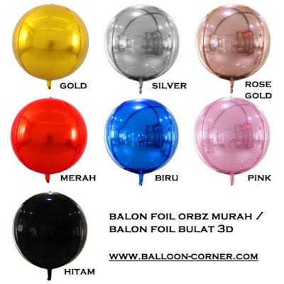 Balon Foil Orbz (MURAH)