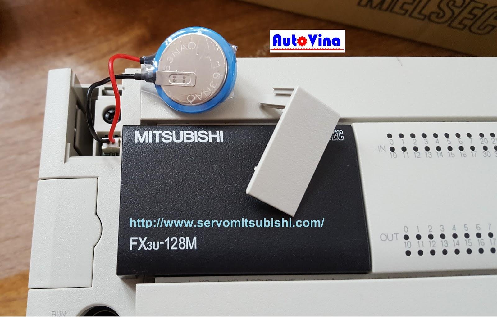 Bán, thay thế, sửa chữa Pin Battery cho PLC Mitsubishi FX3U-128MT/ES-A