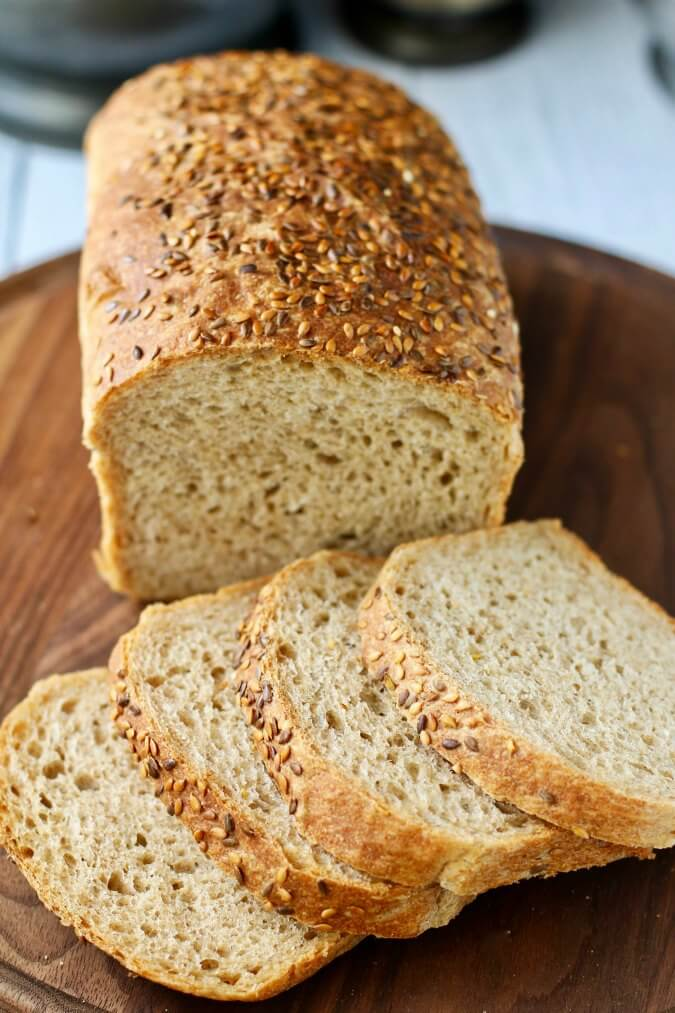 Sprouted Wheat and Flax Seed Bread
