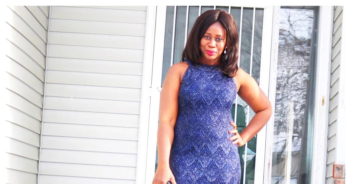 Fashion Beauty Zone: Beauty's Fashion Zone: Happy New Year: Blue Sequin Dress
