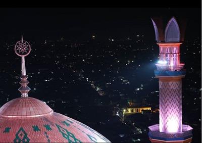 Menara Masjid Islamic Center Mataram Lombok