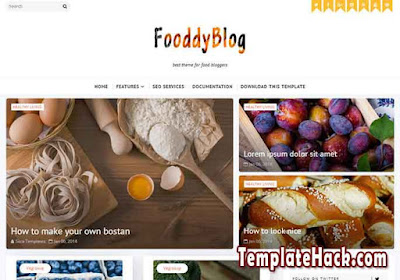 fooddy blog blogger template