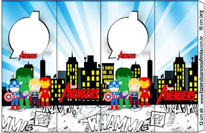 Etiquetas de Los Vengadores Chibi para imprimir gratis.