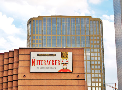 Houston Ballet Nutcracker (poster on Wortham Center)
