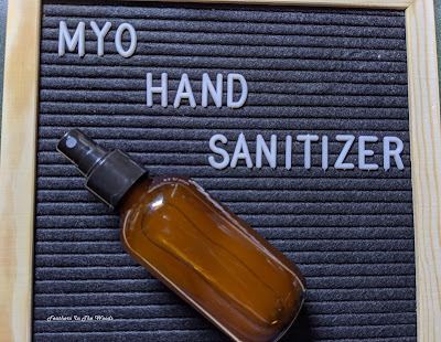 Hand sanitizer recipe, 3 ingredients.