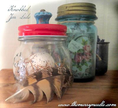 DIY mason fruit ball jar lid with knob