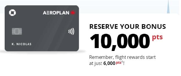 Earn 10,000 Bonus Aeroplan Points With Chase Aeroplan Credit Card Waitlist Offer