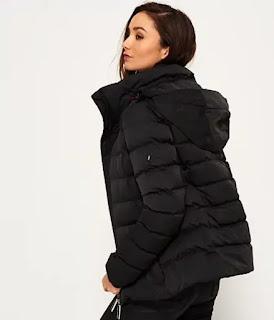 lightweight water-resistant packable puffer coat.