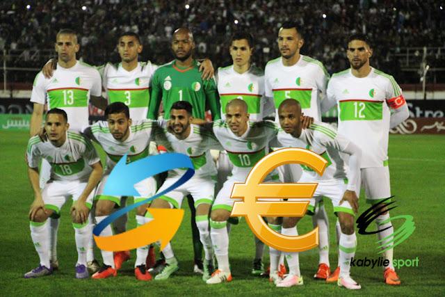 La valeur de l'équipe national Algérienne
