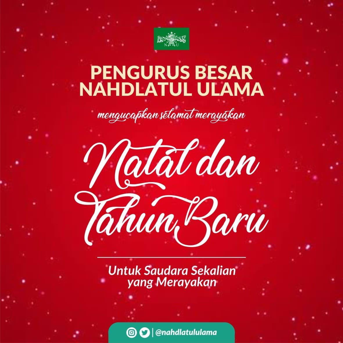Ketika PBNU Ucapkan Peringatan Hari Natal dan Mendoakan