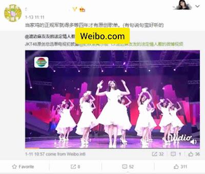 SNH48 fans with their views on JKT48's original single Rapsodi