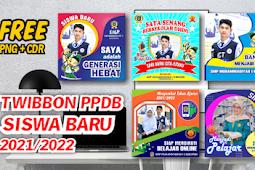 TWIBBON PPDB SEKOLAH SISWA BARU 2021/2022 PNG DAN CDR FREE