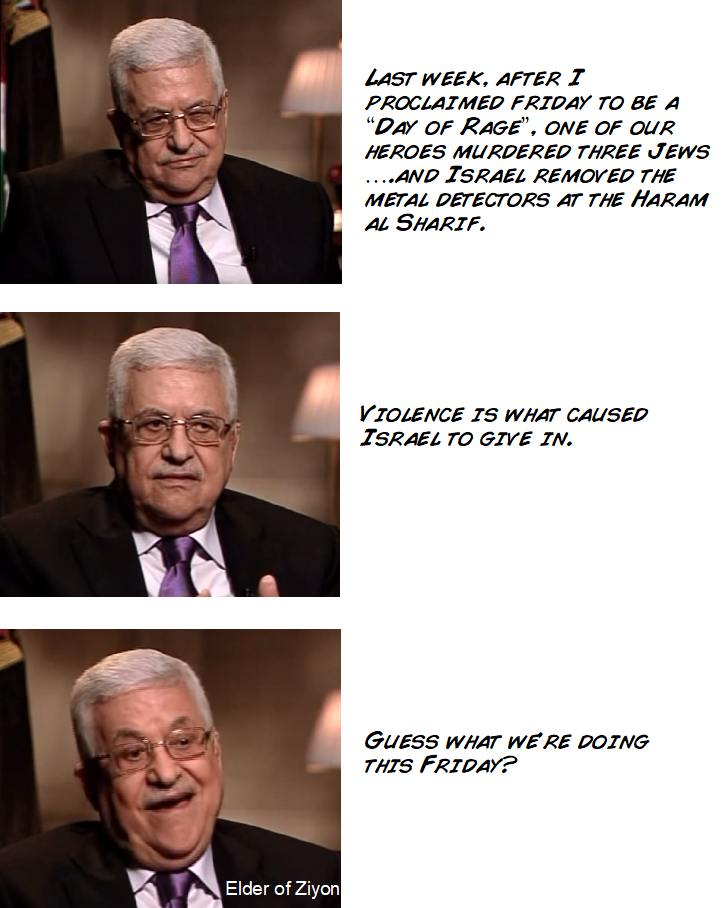 """Jew Detector: After """"Day Of Rage"""" Succeeds, Abbas Moves Back Towards"""