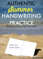 handwriting ideas for summer