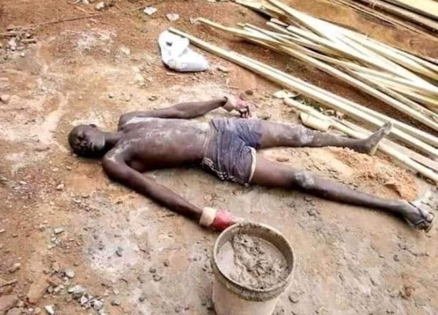 SO SAD!! Nigerian Man Falls Down, Die Of Hunger (See Photo)