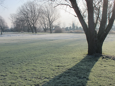 A frosty scene in England