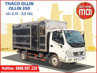 Xe tải Thaco Ollin 350 thùng kín