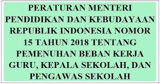 Permendikbud No.15 Tahun 2018