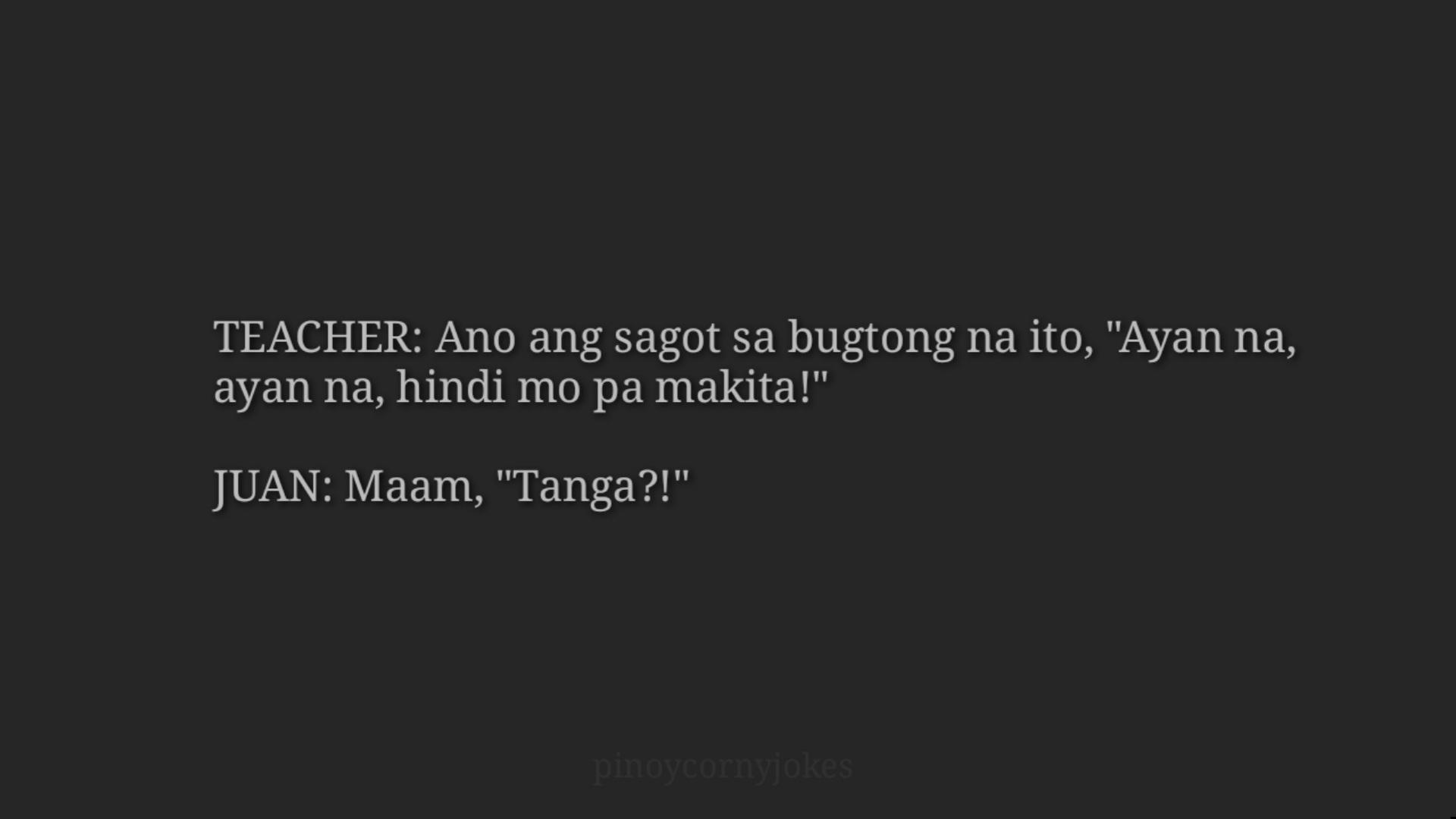 Bugtong Para kay Juan Tagalog Jokes
