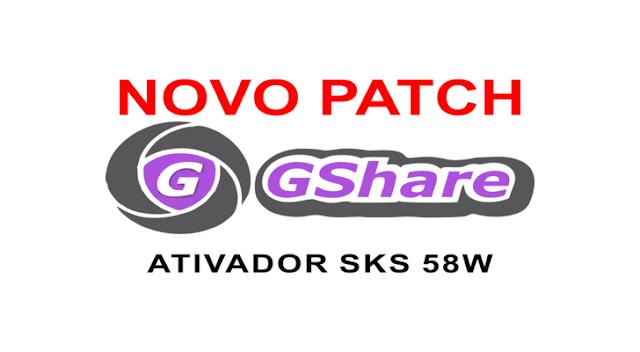 GSHARE NOVA ATUALIZAÇÃO PATCH KEYS 58W - 19/05/2018
