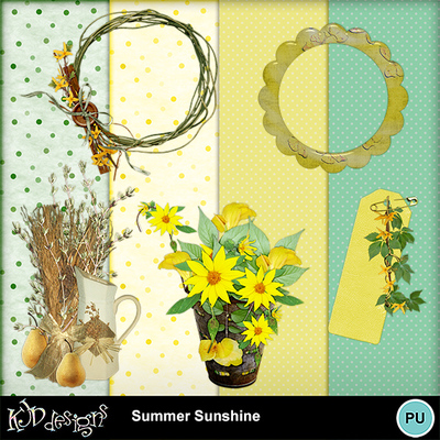 Summer Sunshine and Alpha Freebie !