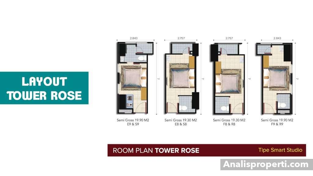 Denah B Residence Tipe Smart Studio