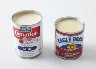 evaporated milk and condensed milk